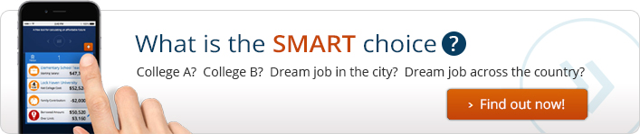 What is the Smart Choice?  College A? College B? Dream job in the city? Dream job across the country?